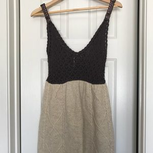 Free People Crochet and Wool Vintage Dress